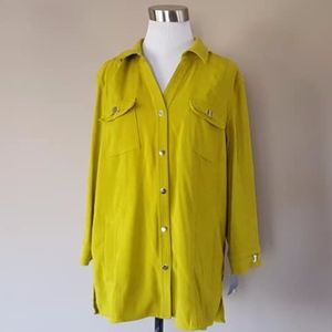 Chartreuse Blouse Long Sleeves